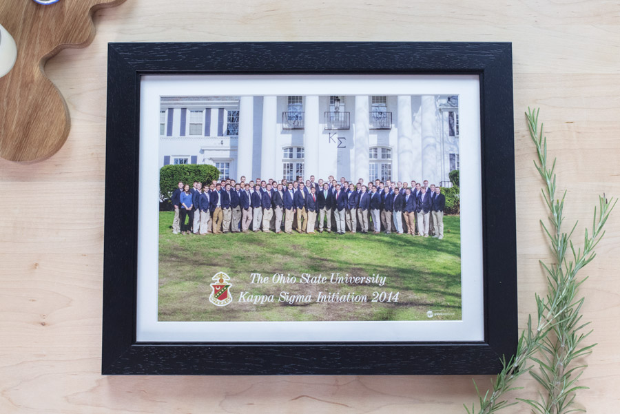 """framed + matted photo"" initiation photo product"