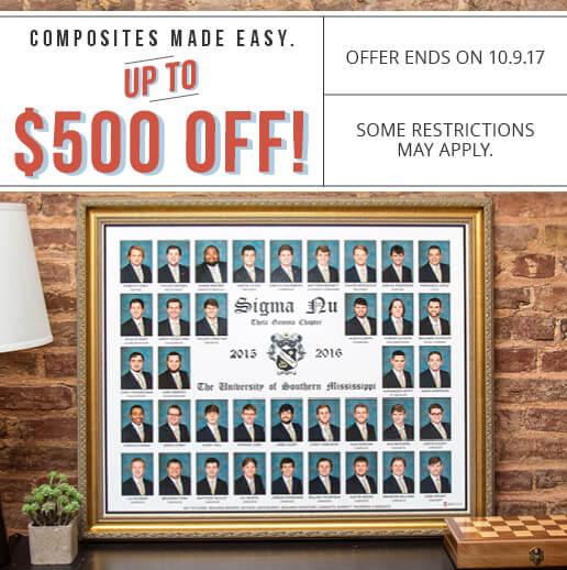sorority and fraternity composites with all inclusive pricing