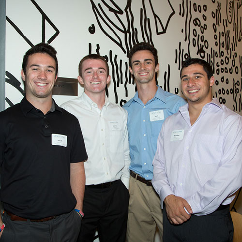 convention photo example - three fraternity men smiling