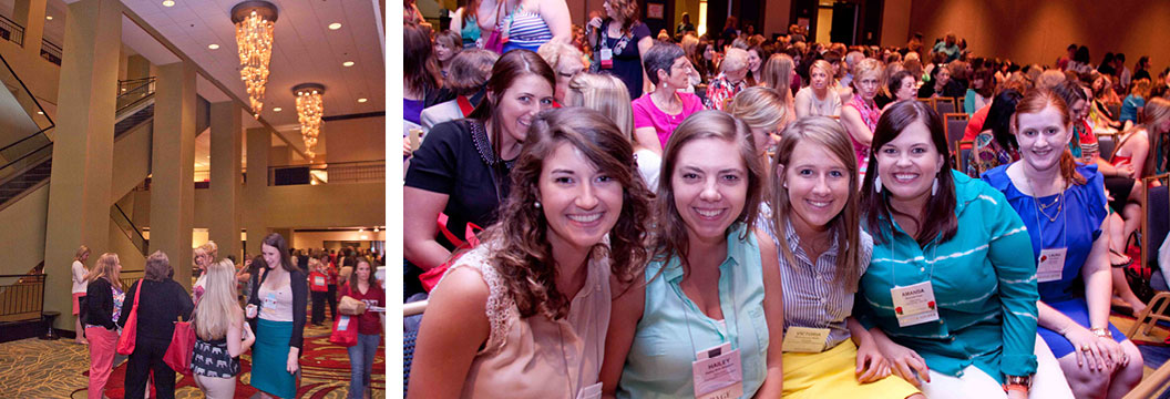 convention photo example - sorority women during a speaker presentation