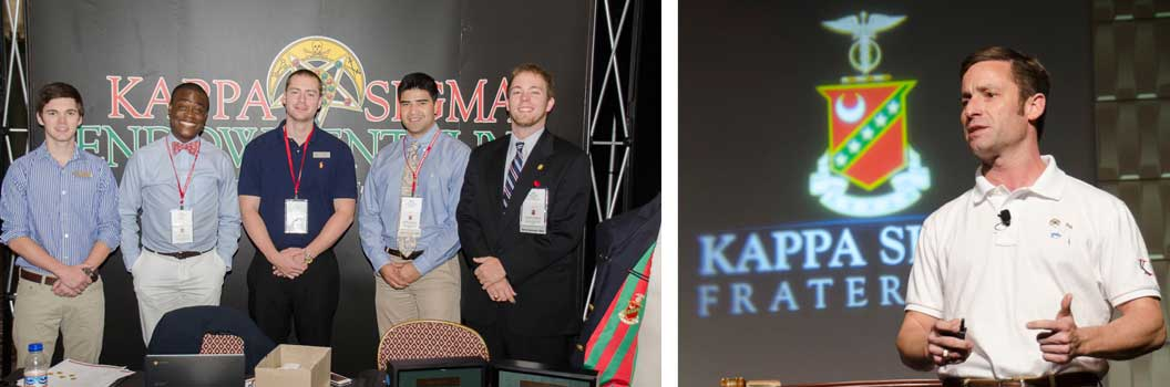 convention photo example - kappa sigma fraternity men