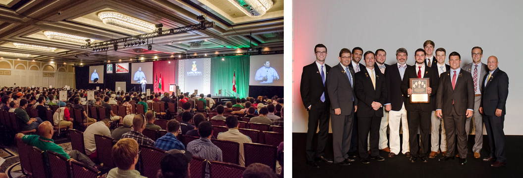 greek event photography example - fraternity convention