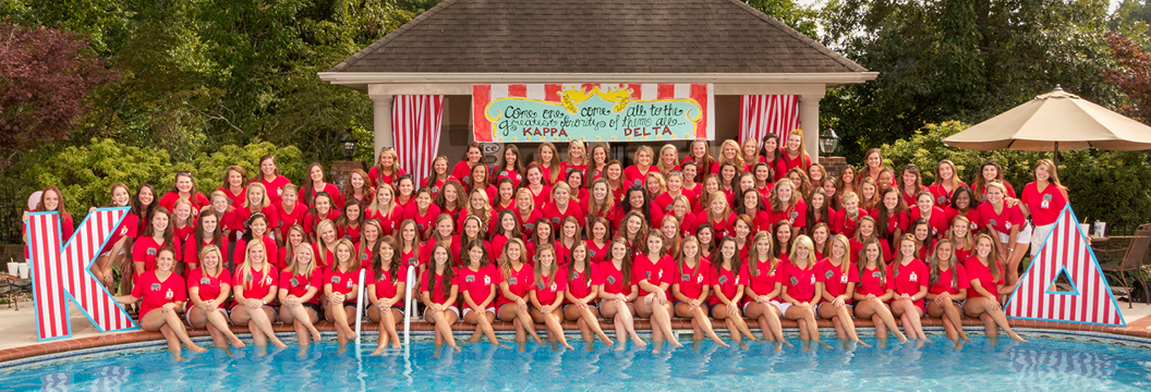sorority bid day photography example - kappa delta