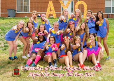 Alpha Chi Omega Bid Day at UNCC