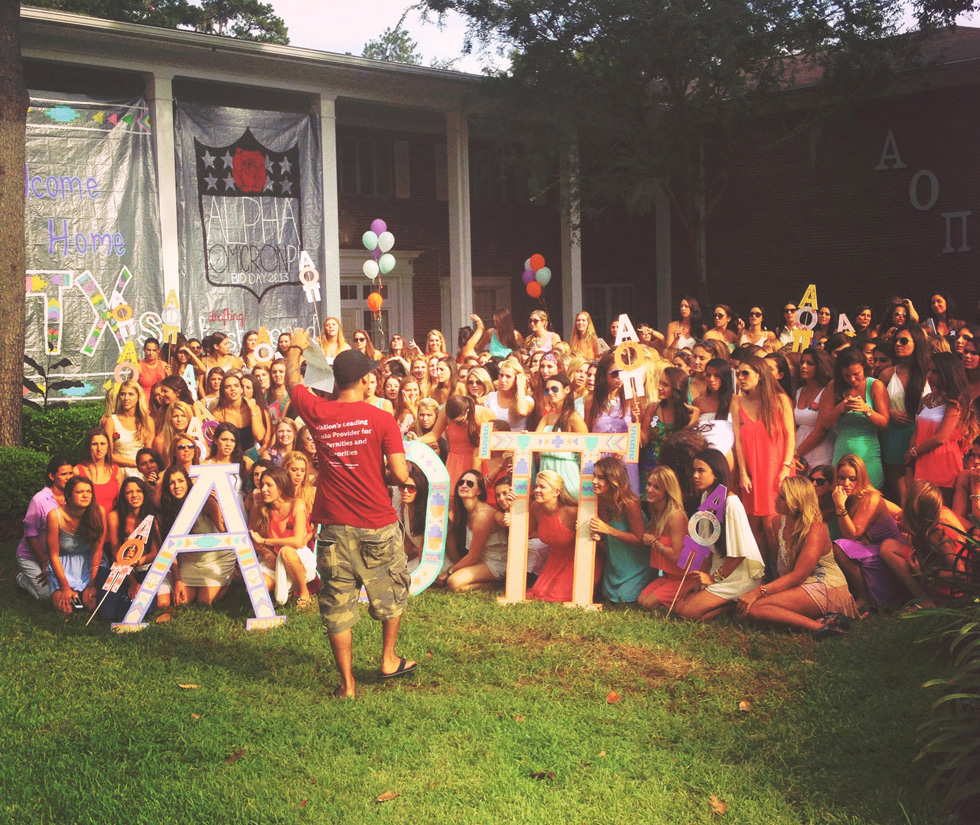 sorority bid day photo