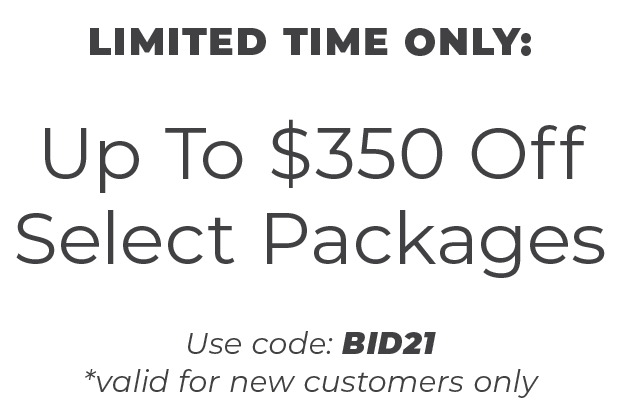 Up To $350 Off Select Bid Day Packages